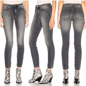 Acne Studios Coal Gray High Rise Skinny Jeans 28